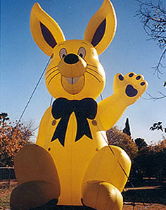 advertising inflatabes - 25ft tall yellow color bunny inflatable